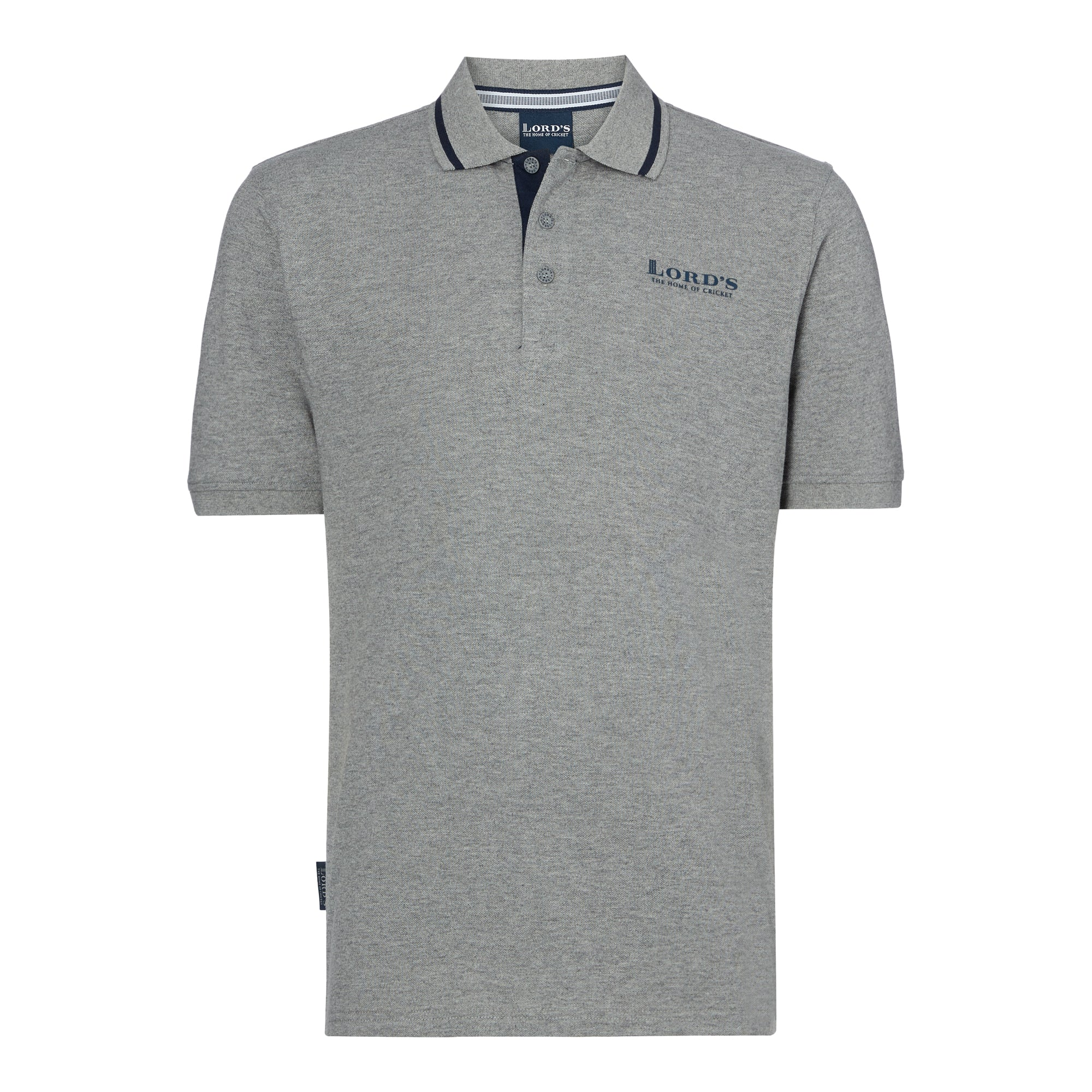 LORD'S PIQUÉ POLO SHIRT GREY/NAVY