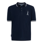 ASHES URN NAVY/WHITE POLO SHIRT