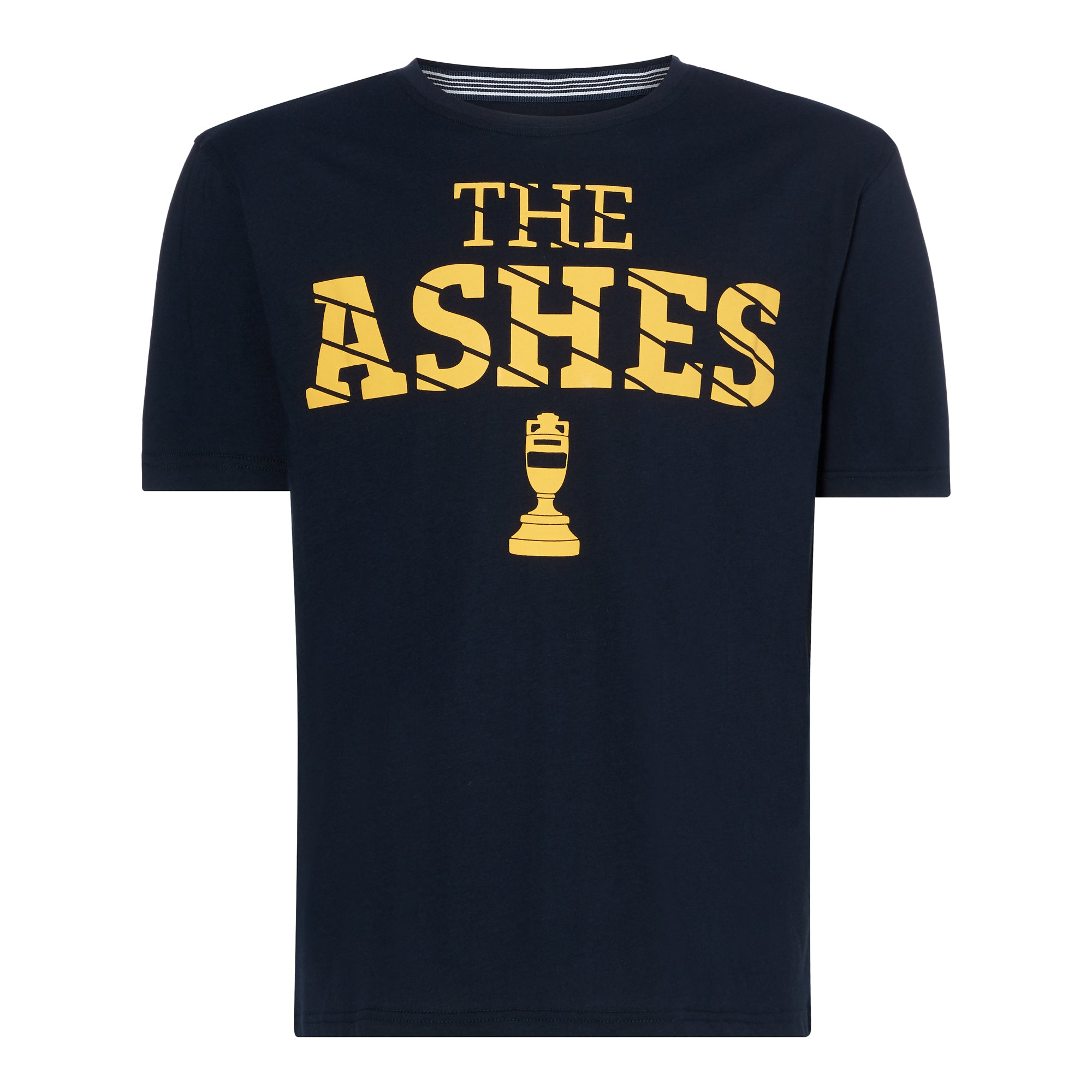 ASHES URN PUFF PRINT NAVY/YELLOW T-SHIRT