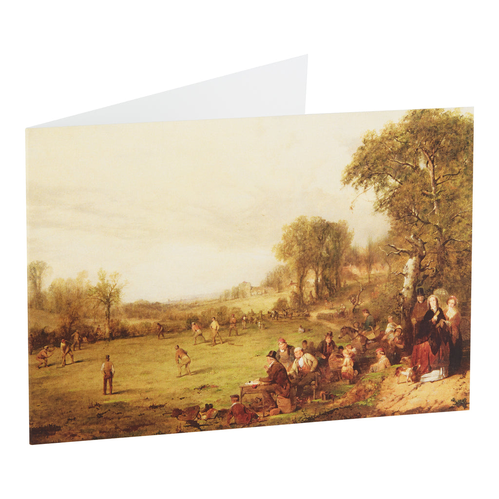 VILLAGE CRICKET, 1855 - GREETING CARD & ENVELOPE