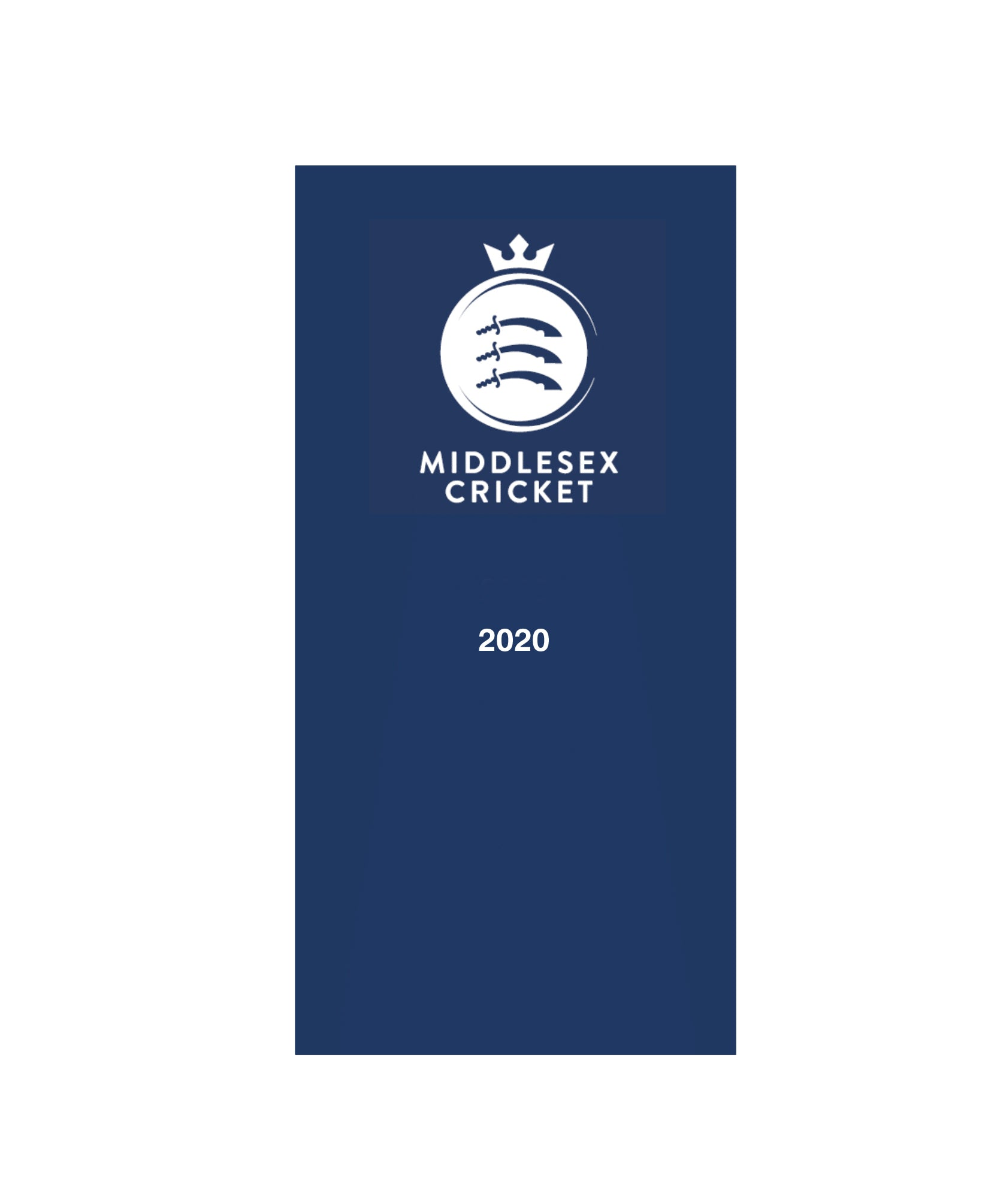 MIDDLESEX CRICKET 2020 DIARY
