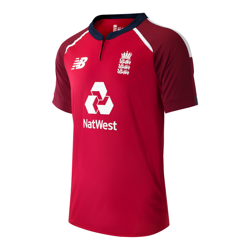 2020 ENGLAND CRICKET REPLICA T20 SHIRT RED - ADULT