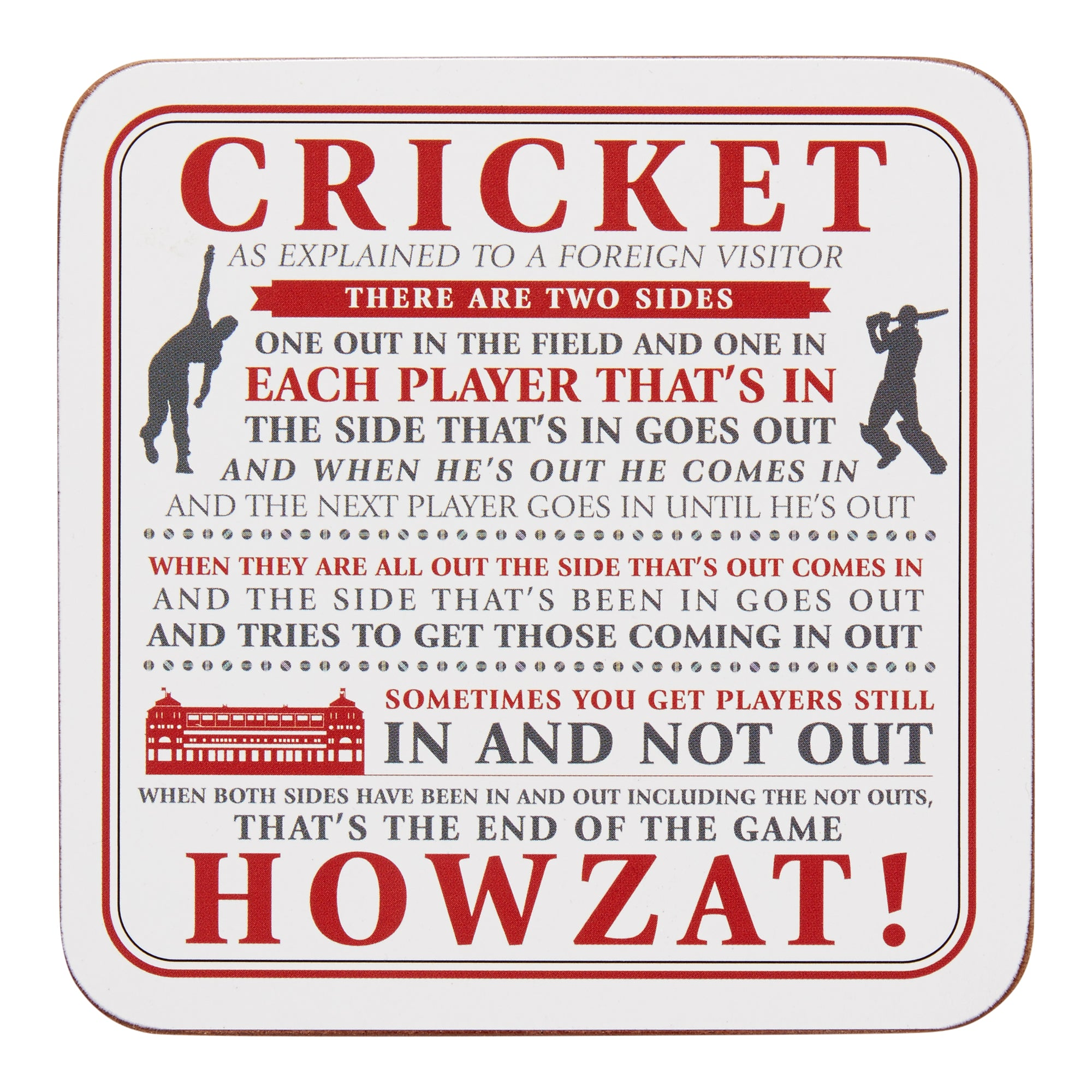 "LORD'S ""CRICKET AS EXPLAINED"" COASTER"