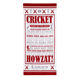 "LORD'S ""CRICKET AS EXPLAINED"" BEACH TOWEL"