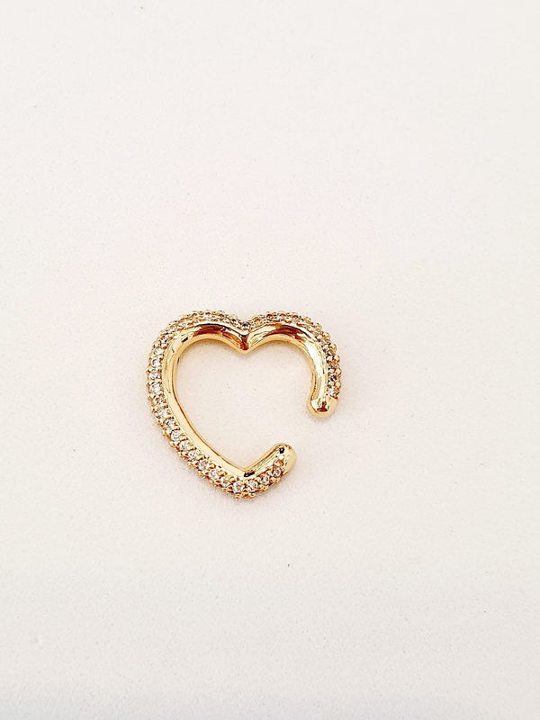 "Ear cuff a cuore ""Paris"" gold"