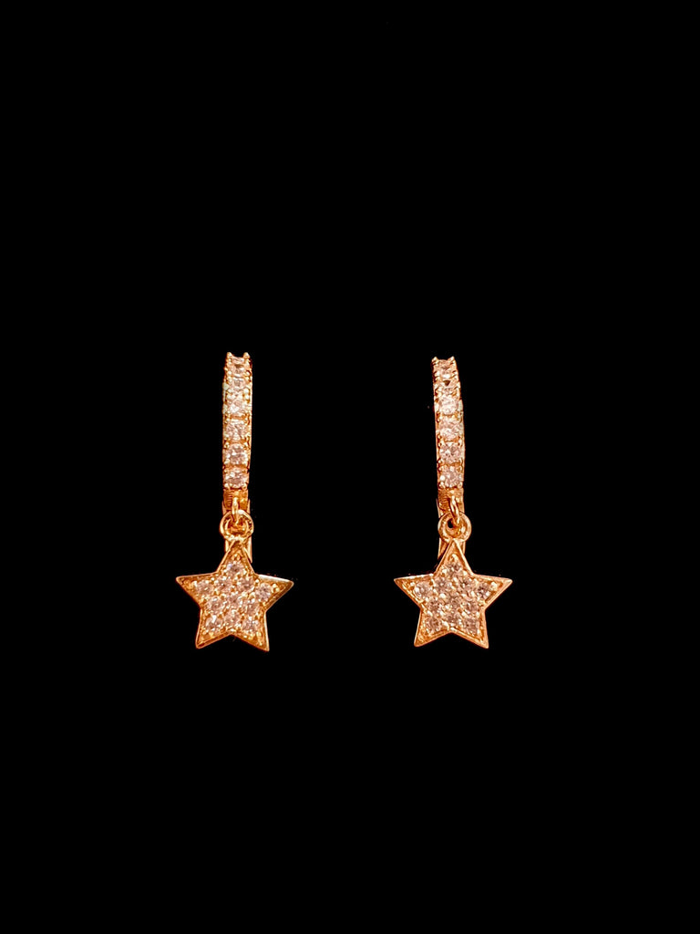 "Coppia mini hoops ""shining star"" gold"