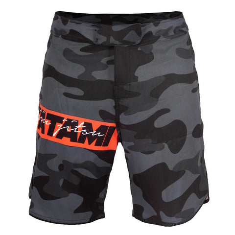 Tatami Fightwear Red Bar Camo MMA Shorts Black