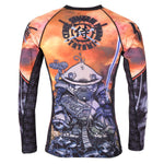 Tatami Fightwear Cyber Samurai Panda Long Sleeve Rash Guard