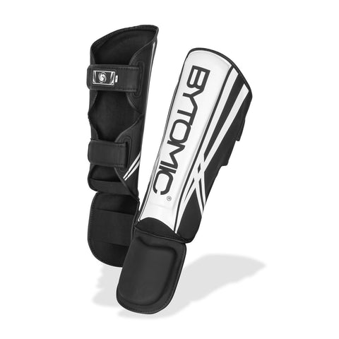 Bytomic Axis V2 Shin Guards Black/White