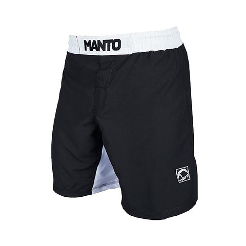 Manto Emblem Fight Shorts Black/White