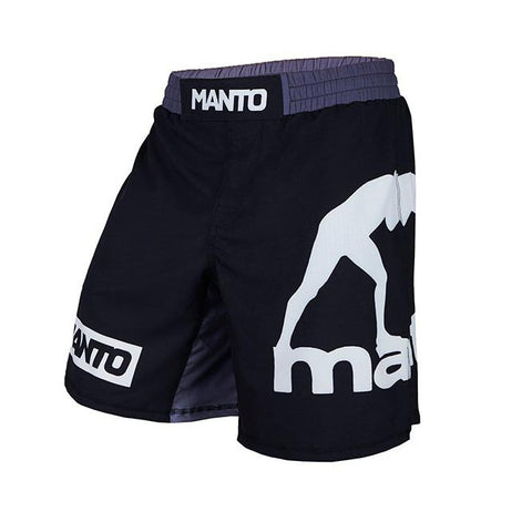 Manto Logo Fight Shorts Black/White