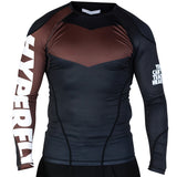 Hyperfly ProComp Supreme Long Sleeve Rash Guard Brown