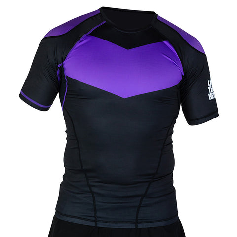 Hyperfly ProComp Supreme Short Sleeve Rash Guard Purple