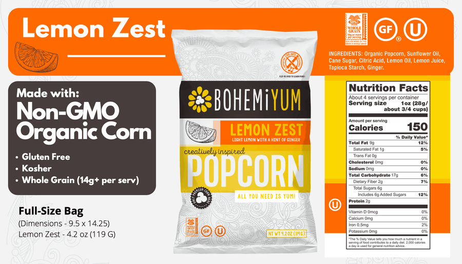 YUM! Box (4 Lg Bags) - Lemon Zest