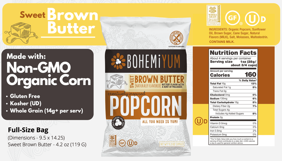 BOHEMiYUM Popcorn - Sweet Brown Butter Details