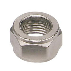 Beer Hex Nut Chrome Brass