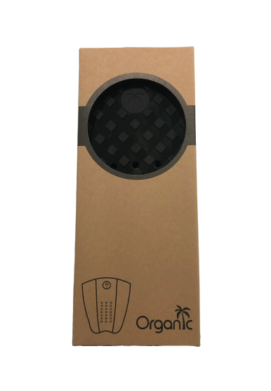 Surf Organic All Black Tail Pad in box packaging - Eco Friendly Surf Shop