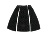 Top view of a Surf Organic All Black Tail Pad - Eco Friendly Surf Shop