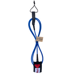Folly-Co-eco-conscious-7ft-surf-leash-blue-eco-friendly-surf-shop-efss-sustainable-surfing-gear-7ft-eco-surf-leash-displayed