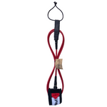 Folly-Co-eco-conscious-surf-leash-red-eco-friendly-surf-shop-efss-sustainable-surfing-gear-red-6ft-surf-leash-displayed