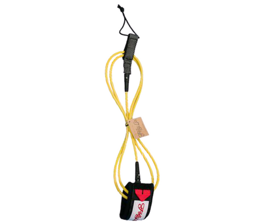 Folly-Co-eco-conscious-7ft-surf-leash-yellow-eco-friendly-surf-shop-efss-sustainable-surfing-gear-yellow-7ft-surf-leash-displayed