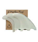 Marlin (Futures) Thruster Fins setup with packaging - Ice Vanilla - EFSS - Eco Friendly Surf Shop