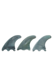 Marlin (Futures) Thruster Fins setup packaging - Silver Storm colour - EFSS - eco friendly surf shop