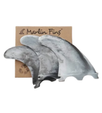 Marlin (Futures) Thruster Fins set with packaging - Marble Splash colour - Eco friendly surf shop