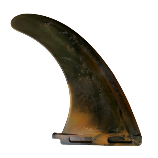 Marlin-Fins-9-inch-desert-roar-MarlinRecyclableFins-malibu-fin-Eco-Friendly-Surf-Shop-Sustainable-surfing-eco-surfing-recycled-fins-eco-fins-eco-friendly-longboard-9inch-single-fin-facing-right