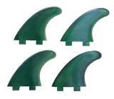 Marlin-Fins-Quad-Fins-cyclone-green-eco-Friendly-Surf-Shop-Sustainable-surfing-eco-surfing-recycled-fins-eco-fins-eco-friendly-surfboard-fins-quad-fins-in-2x2-rows-facing-left.
