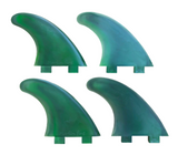 Marlin-Fins-Quad-Fins-cyclone-green-eco-Friendly-Surf-Shop-Sustainable-surfing-eco-surfing-recycled-fins-eco-fins-eco-friendly-surfboard-fins-quad-fins-in-2x2-rows-facing-right