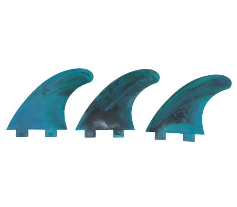 Marlin-Fins-Thruster-Fins-Ocean-Storm-Eco-Friendly-Surf-Shop-Sustainable-surfing-eco-surfing-recycled-fins-eco-fins-eco-friendly-surfboard-fins-in-a-row