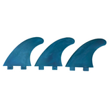 Marlin-Fins-Thruster-Fins-Ocean-blue-Eco-Friendly-Surf-Shop-Sustainable-surfing-eco-surfing-recycled-fins-eco-fins-eco-friendly-surfboard-fins-in-a-row-facing-left