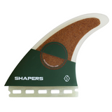 Shapers Eco-Tech - Large Performance Thrusters eco friendly surf shop - sustainable surfing - shapers surf co - eco surf products - left facing eco surfboard thruster fin.