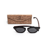 Insoliti Sospetti by Woodhoy - Eco friendly wooden sunglasses - eco friendly surf shop - eco wood sunglasses with foldable cork carry case