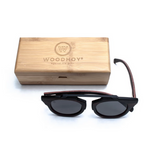 Insoliti Sospetti by Woodhoy - Eco friendly wooden sunglasses - eco friendly surf shop - eco wood sunglasses with square carry case