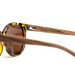 Tortuga by Woodhoy - Eco friendly wooden sunglasses - eco friendly surf shop - zebra wood sunglasses inside of frame view