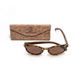 Tortuga by Woodhoy - Eco friendly wooden sunglasses - eco friendly surf shop - zebra wood sunglasses with foldable cork carry case