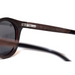 Baronetti by Woodhoy - Eco friendly wooden sunglasses - eco friendly surf shop - Ebony wood sunglasses inside frame view