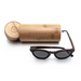 Baronetti by Woodhoy - Eco friendly wooden sunglasses - eco friendly surf shop - ebony wood sunglasses with round carry case