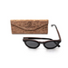 Baronetti by Woodhoy - Eco friendly wooden sunglasses - eco friendly surf shop - ebony wood sunglasses with foldable cork carry case