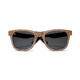 Sughero by Woodhoy - Eco friendly wooden sunglasses - eco friendly surf shop - Premium cork wood sunglasses front on view
