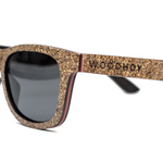 Sughero by Woodhoy - Eco friendly wooden sunglasses - eco friendly surf shop - Premium cork wood sunglasses side on view