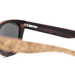 Sughero by Woodhoy - Eco friendly wooden sunglasses - eco friendly surf shop - Premium cork wood sunglasses inside frame view
