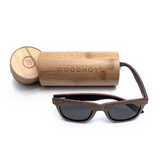Sughero by Woodhoy - Eco friendly wooden sunglasses - eco friendly surf shop - Premium cork wood sunglasses with round carry case