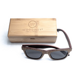 Sughero by Woodhoy - Eco friendly wooden sunglasses - eco friendly surf shop - Premium cork wood sunglasses with square carry case
