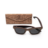 Sughero by Woodhoy - Eco friendly wooden sunglasses - eco friendly surf shop - Premium cork wood sunglasses with foldable cork carry case