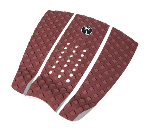 Surf Organic Maroon Tail Pad with white logo - Eco Friendly Surf Shop - Sustainable surf gear - sustainable surfing