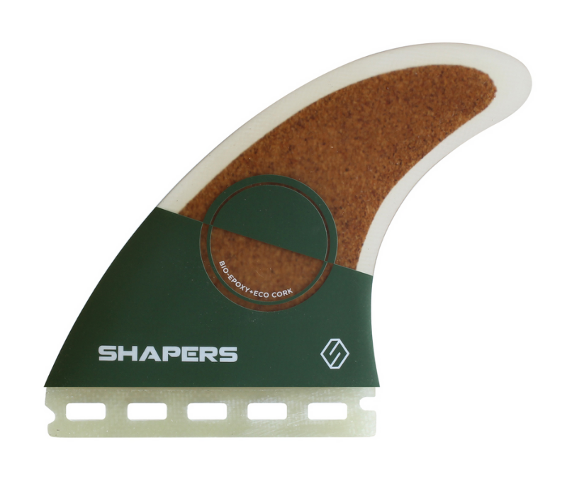 Shapers Eco-Tech - Small Performance Thrusters eco friendly surf shop - sustainable surfing - shapers surf co - eco surf products - left facing eco surfboard fin