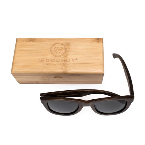 Desi by Woodhoy - Eco friendly wooden sunglasses - Eco Friendly Surf Shop - Bamboo Wood sunglasses with square carry case